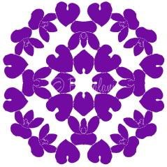 February - Violet Symbolizing Modesty, Virtue and Young Love