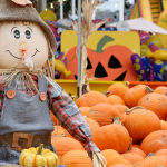 pumpkns and scarecrows